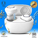 Wireless Earbuds, Bluetooth Headphones with Mic, True Wireless Earbuds with Charging Case, In-Ear Headphones Mini Cordless Stereo Earphones Compatible for Android Smartphones