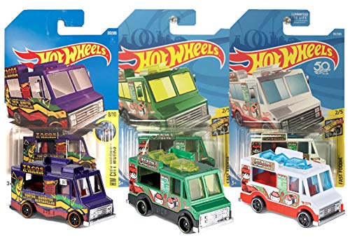 Hot Wheels Quick Bite Food Truck 3 Pack Bundle, Includes