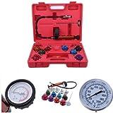 Ambienceo Universal Radiator Pressure Tester Vacuum Type Cooling System Tester Head Pump Tester Gasket Leak Detector Kit