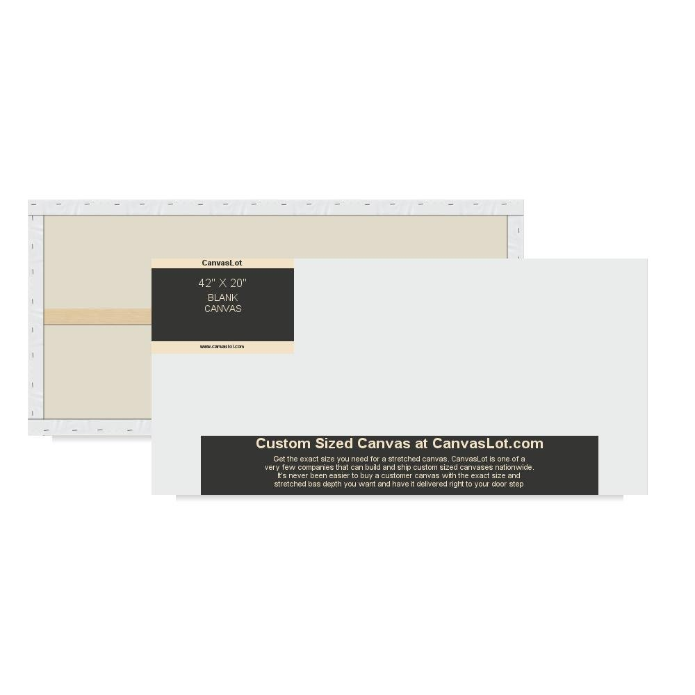 amazon com canvaslot large 42 x 20 stretched blank canvas