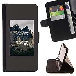 Momo Phone Case / Flip Funda de Cuero Case Cover - Ne pas être Inspirer affiche de citation - Motorola Moto E ( 1st Generation )