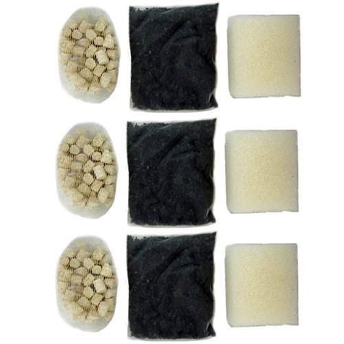 Aquaclear 20 Foam - Hagen AquaClear 20 & Edge Aquarium Filter Media Set 3-PACK (Foam A598, Carbon A597 and Biomax A595)