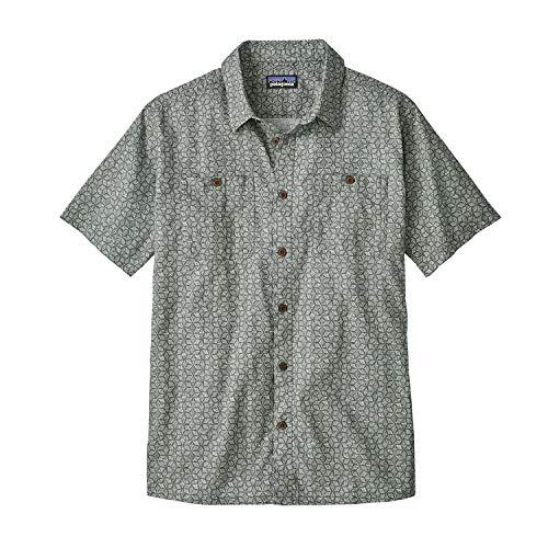 Hombre Camisa Micro Grey Step Patagonia Back Batik Hex M's IZwqP