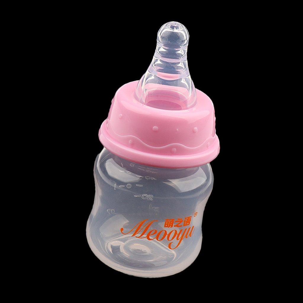 Gr/ün MagiDeal Babyflasche Neugeborene Kinder Wasser Getr/änke Flasche 60ml Gr/ün//Rosa 60ml