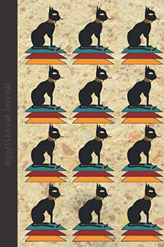 Egyptian Cat Journal: Lined Composition Notebook  6 X 9 inches 120 pages