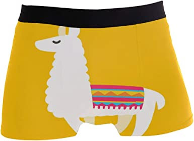 SUABO Men Boxer Briefs Polyester Underwear Men 2 Pack Boxer Briefs with Horse Pattern