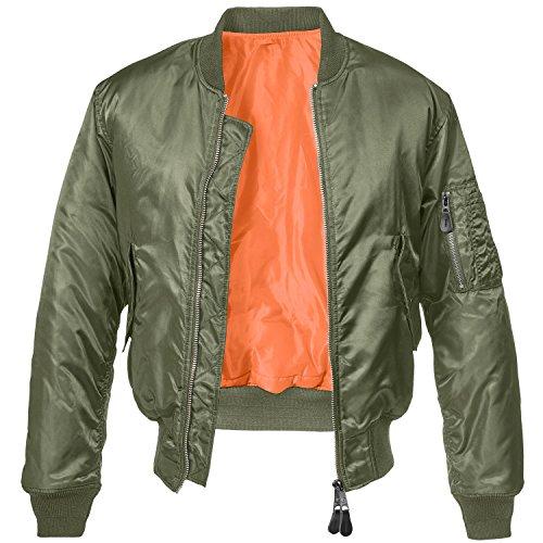 Oliv Orange Ma1 Veste Homme Bomber Brandit nqw0xII