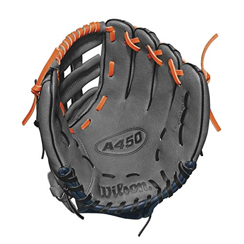 "Wilson Advisory Staff David Wright Baseball Glove, 11"", Charcoal/Orange/Royal, Left Hand Throw"