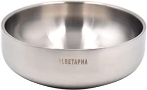 Albetapha Dog Bowl,Cat Bowl,18/8(304 ) Stainless Steel Dog and Cat Bowl,18 oz Double-Wall Pet Bowl