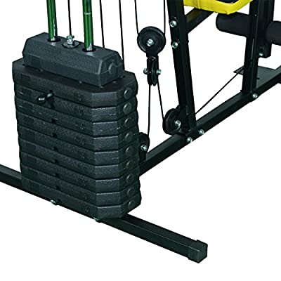 Soozier Indoor Adjustable Durable 100 lb Stack Home Gym Exercise Equipment Machine
