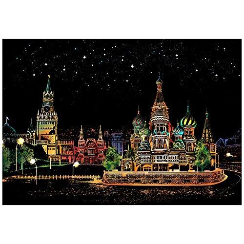 1 PC Bloc de Dessin de Carte à Gratter Scratch pour Enfants de FavouAll.Place Rouge en Russie