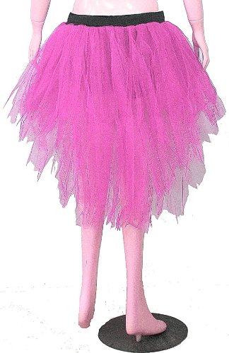 Baby Pink 7 Layers Trashy Tutu Skirt Peacock Bustle Dance Fancy Costume Dress Party Halloween Christmas Free Shipping (Trashy Fancy Dress)