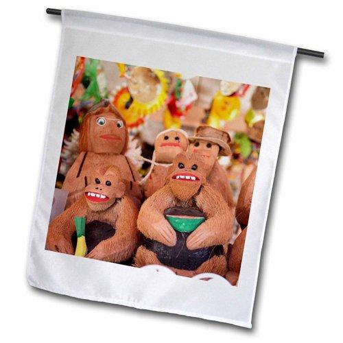 "3dRose fl_206682_2 ""Coconut Carved Figurines Zihuatanejo,..."