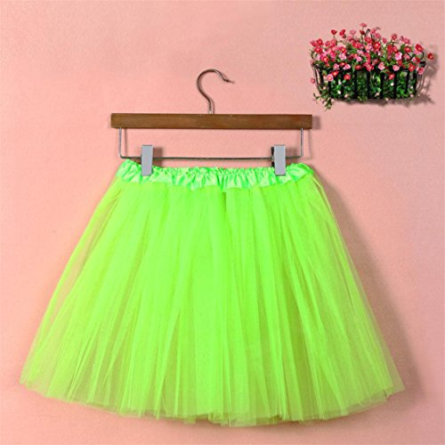 Sale TIFENNY Green Gauze mesh Waist Womens Dress High Skirt Dancing Adult Hot Solid Mesh Pleated Half Tutu FadBnz