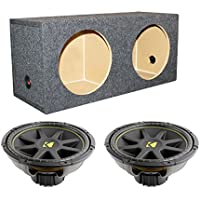 2) KICKER C15 15 1200W Dual 4-Ohm Car Audio Subwoofers + Dual Sealed Sub Box