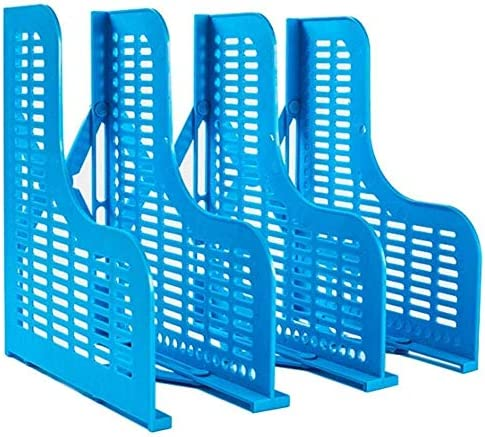 AGWa Schreibtisch File Organizer, Datei Halter Document Storage Rack, große Multi-Funktions-Desktop-Storage Rack Vertical File Rack-Büro mit Scalable Data Rack