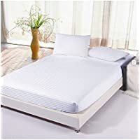 Linenwalas 100% Cotton 310TC Fitted Bedsheet with Pillow Covers
