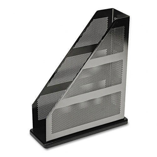 Rolodex : Distinctions Metal/Wood Magazine File, 3 3/4 x 10 1/4 x 12 7/16, Black -:- Sold as 2 Packs of - 1 - / - Total of 2 Each