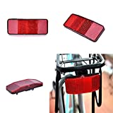 Yongrow Bike Rear Reflector Kit,Bicycle Safety Caution Warning Reflector for Rear Pannier Racks Frame,Set of 2