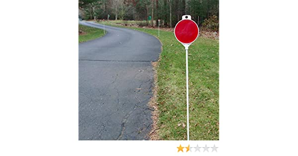 FiberMarker 36-inch Reflective Driveway Markers Driveway Poles for Easy Visibility at Night 1//4 inch Diameter Red 24pack