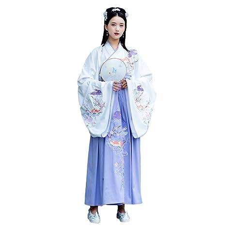 YCWY Vestido Chino Tradicional de Hanfu para Mujer, Traje ...