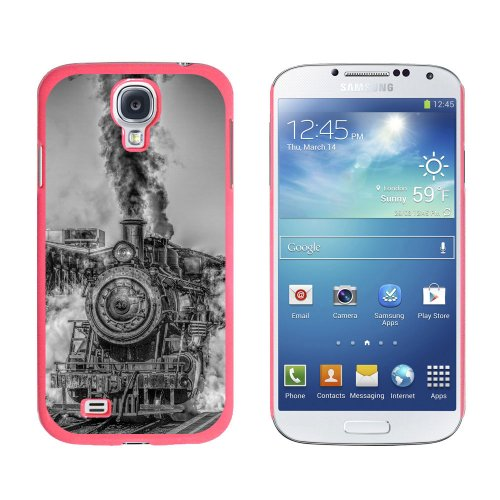 Graphics and More Steam Engine Locomotive Train - Snap On Hard Protective Case for Samsung Galaxy S4 - Pink (Telephone Locomotive)