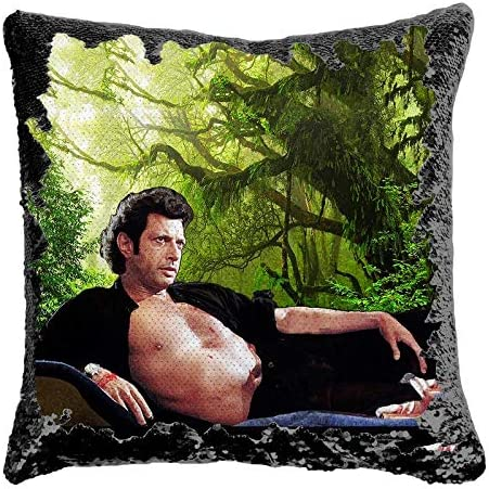 SAINT KEANU REEVES SEQUIN PILLOW MAGIC REVEAL MERMAID CUSHION