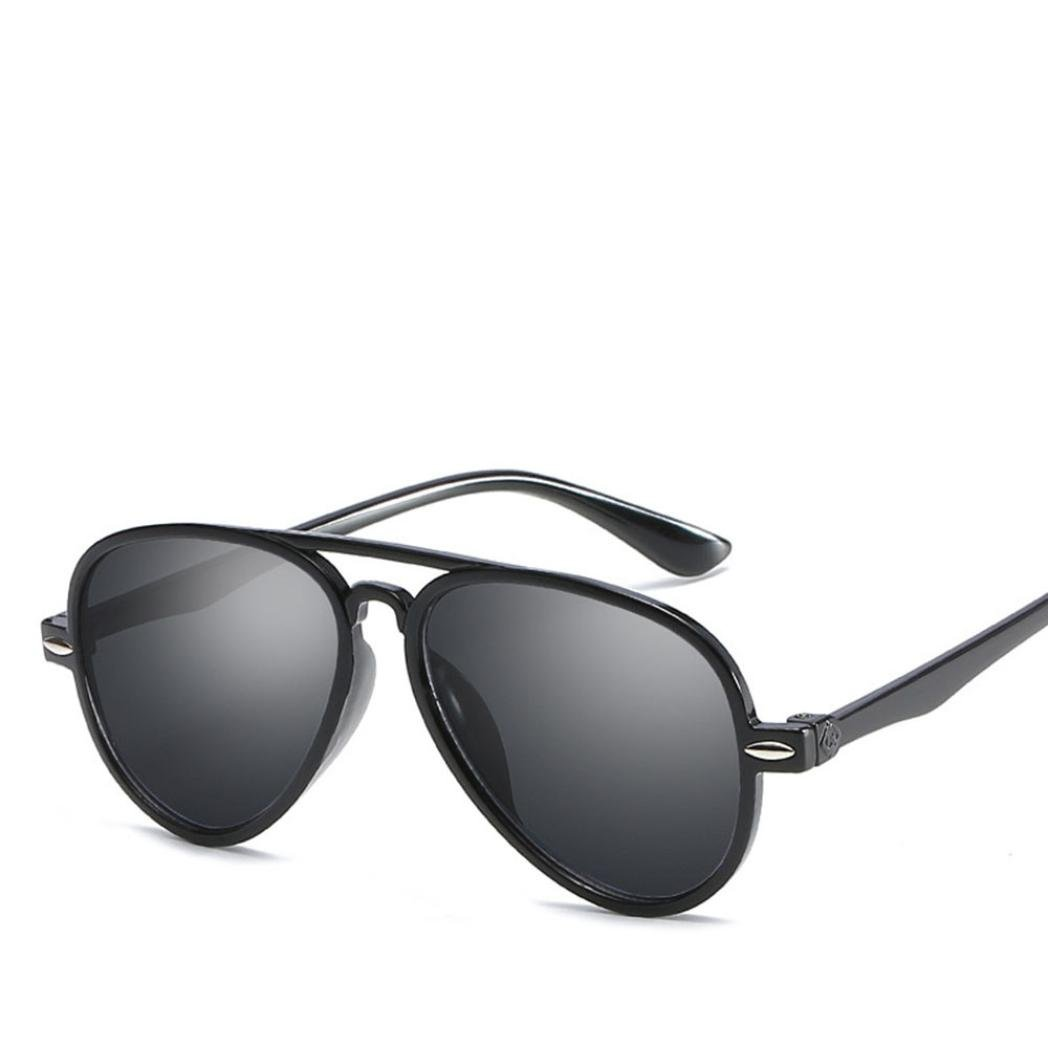 544321d1349c Kids Retro Anti-UV Sunglasses Color Film Goggles New Cool Baby Boy Girls  Glasses (Black): Clothing