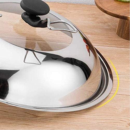 XIAOWEI Couvercle de Cuisine Universel Poignée de Remplacement de Batterie de Cuisine Couvercle de Casserole en Verre Anti-brûlure Accessoires de Cuisson (Taille: 42cm)