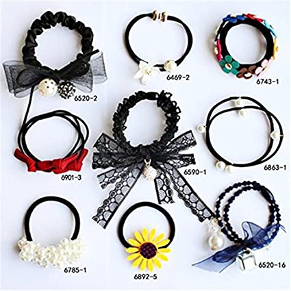 9 Installed Trend Woman Money Gift tie Hair Rubber Band Rope tousheng  Ponytail Holder Hair Pony f883d5fdfcd