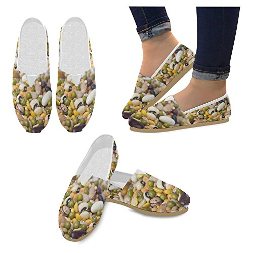 Flats Classic On Fashion 4 Shoes Multi Sneakers Loafers InterestPrint Casual Slip Womens Canvas qawvY1