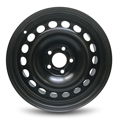 New 16x6.5 Inch 5 Lug Steel Wheel Rim Chevrolet 2004-2008 Malibu 2005-2011 HHR Black 5x110mm Bolt Pattern ;40mm Offset; 65.1mm Center Bore
