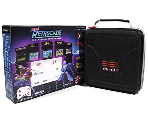 (Retro Bit Super RetroCade Plug & Play Classic HD Game Console VERSION 1.1 with Retro-Bit Carrying Case by Geek Theory - Preloaded with over 90 Popular Arcade Titles (Red/White) - For NES, SNES)