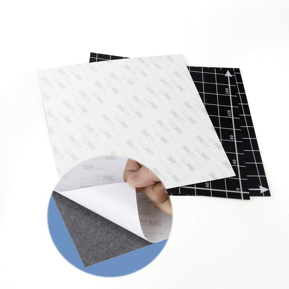 220x220mm superficie de construcci/ón magn/ética flexible para Anet A8 Wanhao i3 impresora 3D plataforma extra/íble Eewolf