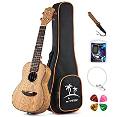 Product Description The Donner DUC-2 Ukulele is a great beautiful looking ukulele made with very high quality zebrawood materials. Whether you're strumming in a hammock on the beach or kicked back in a recliner in your living room, a ukulele ...