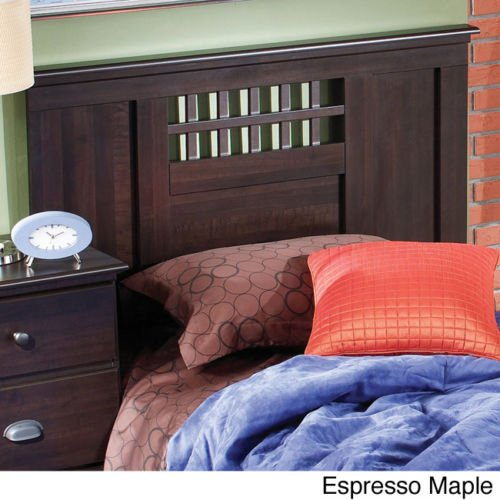 (QUEEN SIZE HEADBOARD WITH GEOMETRIC SHAPES THAT WILL BLEND WITH ANY BEDROOM DECOR. (Expresso Maple))