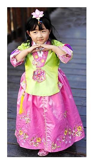 e7fd7ce2b2 Amazon.com: CRB Fashion Girls Toddler Korean Top Hanbok Outfit Dress Costume:  Clothing