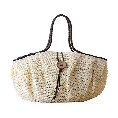 main plage Dunland main sac Coco boucle filles à paille femmes capacité nature la Beige Sac La grande SSwx6q1I