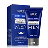 Depilatory Cream For Genital Area - Sinfu Depilatory Cream For Man's Permanent Body Hair Removal Cream Hand Leg Hair Loss Depilatory Cream 60ml (60ml, Blue)