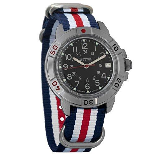 Vostok Komandirskie Mechanical Classic Military Mens Watch Leather Strap #431783 (Vostok Mechanical Wrist Watch)