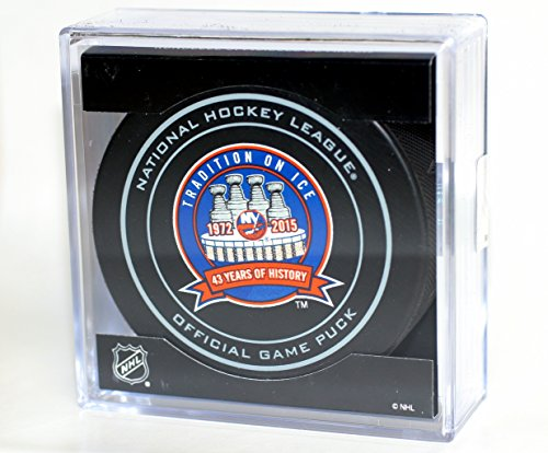 New York Islanders 43 Years of History (1972-2015) Sherwood Official NHL Game Puck in Cube