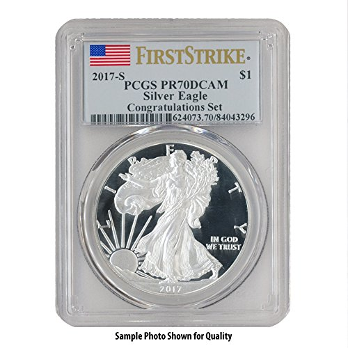 American Eagle Pcgs Coin Set - 2017 S American Silver Eagle $1 PR70DCAM PCGS First Strike-Congratulations Set