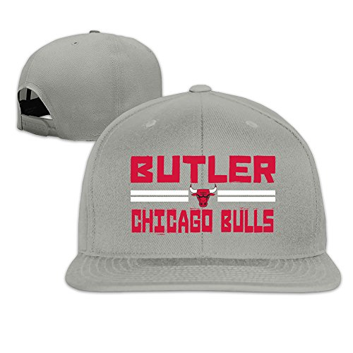 Custom Unisex Jimmy Player Butler Flat Bill Hiphop CapHat Ash