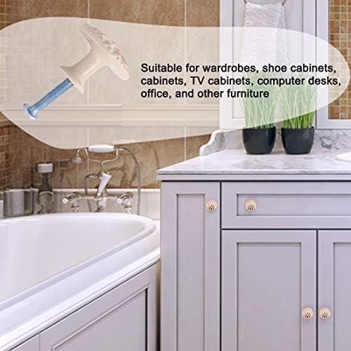 Sourcingmap - Pomos para cajones (aleación de zinc, 24 mm, tirador redondo, para muebles, armarios, puertas de aparador, blanco, 5 unidades: Amazon.es: Bricolaje y herramientas