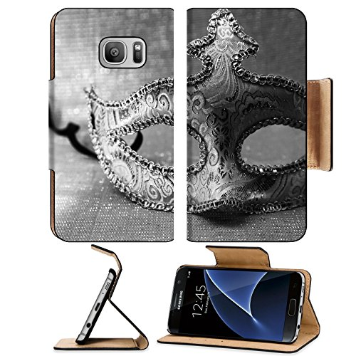 Joker Costume Venice (MSD Premium Samsung Galaxy S7 Flip Pu Leather Wallet Case IMAGE 25230901 Vintage venetian carnival mask)
