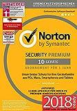 Norton Security Premium Antivirus Software 2018 / Zuverlässiger Virenschutz (Jahres-Abonnement) für bis zu 10 Geräte inkl. Familienschutz (Kindersicherung) / Download für Windows, Mac, Android & iOS
