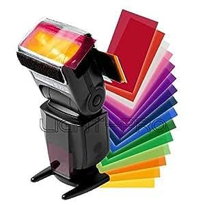 Juego de filtro ARBUYSHOP flash universal flash Speedlite color para Canon Nikon Pentax cámara DSLR
