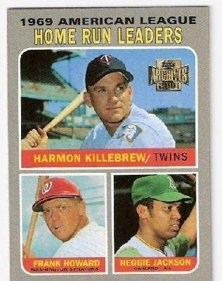 2001 Topps Archives 1969 American League Home Run Leaders Harmon Killebrew/frank Howard/reggie Jackson #318 Baseball Card
