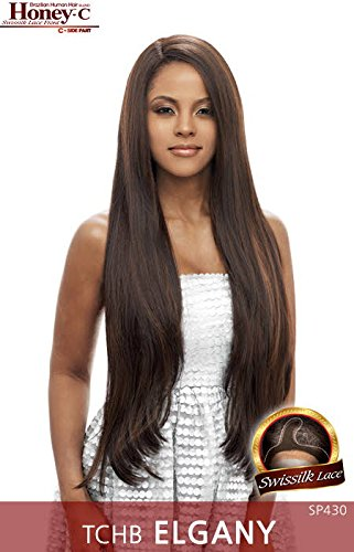 TCHB ELGANY (SP430) - Vanessa Honey C Side Lace Front Part Human Hair Blend Wig