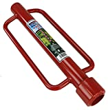 RanchEx 102565 Post Pounder - Medium Duty For Gates and Fences, 16 lb. Pounding Force - Red